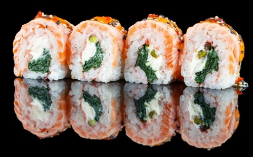 Sushi Fitness roll Simon spinaci