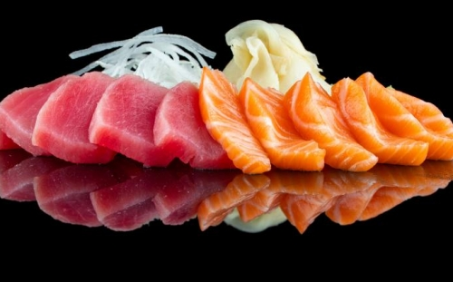 SUSHI Sashimi Sashimi mix salmon and tuna