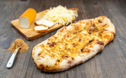 PIZZA BREAD Pizza bread Bread shopski style with smoked cheese, yellow cheese and Bulgarian herbal salt