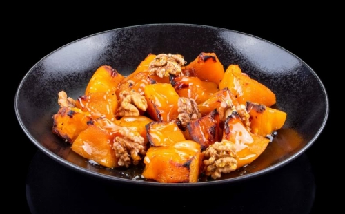SWEETS Desserts Roasted pumpkin with honey and walnuts
