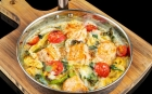 DISHES Pasta Baked pasta with salmo