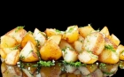 DISHES Side dishes Steamed potatoes with dill and garlic