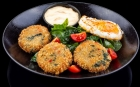 DISHES Starters Spinach and quinoa patties