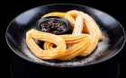 SWEETS Desserts Churros with homemade rosehip marmalade