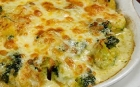 Souffle with spinach and broccoli