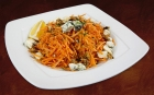 Salad with carrots and blue cheese