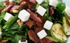 Spinach with bacon and Feta